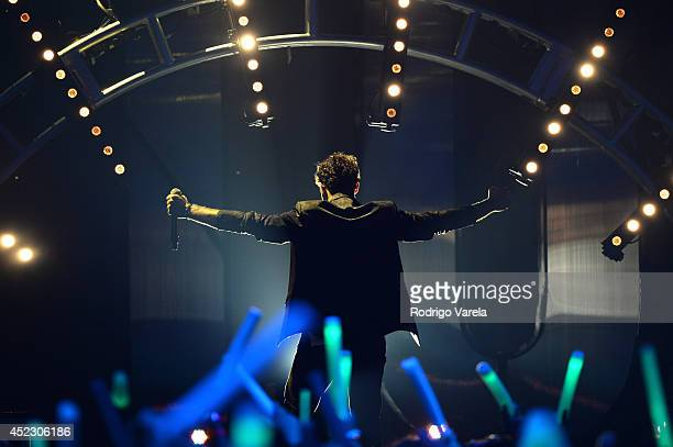 David Bisbal performs onstage during the Premios Juventud 2014 at The BankUnited Center on July 17 2014 in Coral Gables Florida