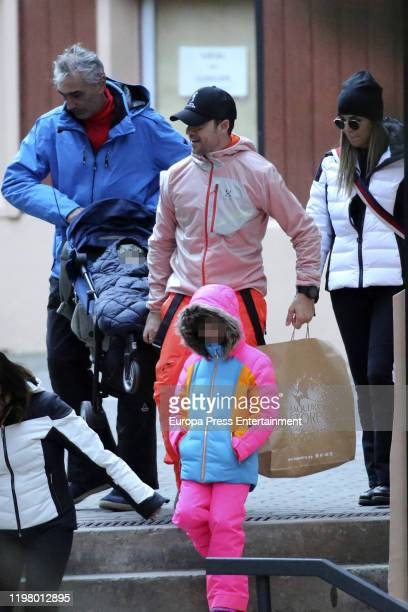 David Bisbal Rosanna Zanetti and Ella Bisbal Tablada are seen on January 04 2020 in Baqueira Beret Spain