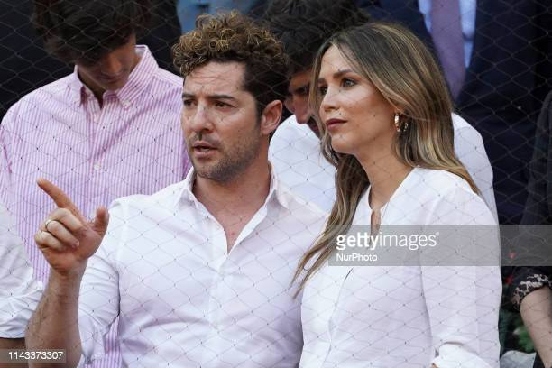 David Bisbal Rosanna Zanetti attend the men's final during day 9 of the Mutua Madrid Open at La Caja Magica on May 12 2019 in Madrid Spain