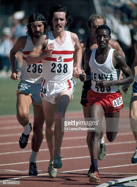 David Black of England in action during the men's 5000 metres final during the Commonwealth Games in Christchurch New Zealand circa 1974 Black won...