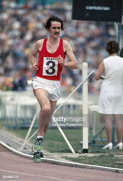 David Black running in the men's 10000 metres during the Olympic trials at Crystal Palace in London on 12th June 1976
