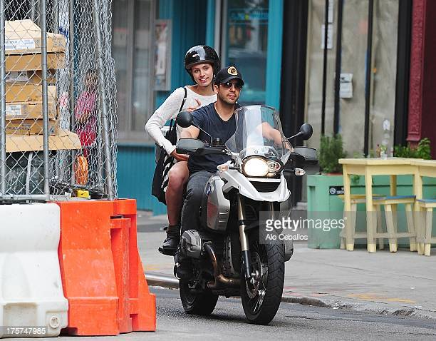 David Blaine and Alizee Guinochet are seen in SoHo on August 7 2013 in New York City