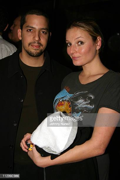 David Blaine and Bridget Hall during Bridget Hall Birthday Party at Hue in New York City New York United States