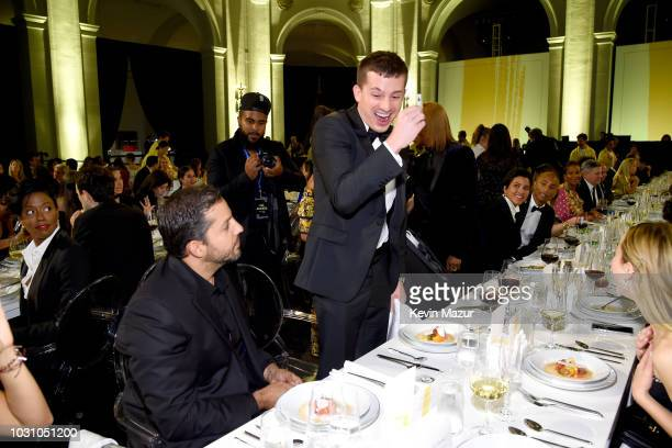 David Blaine and Charlie Puth attend the Yellow Ball hosted by American Express and Pharrell Williams at the Brooklyn Museum on September 10 2018 on...