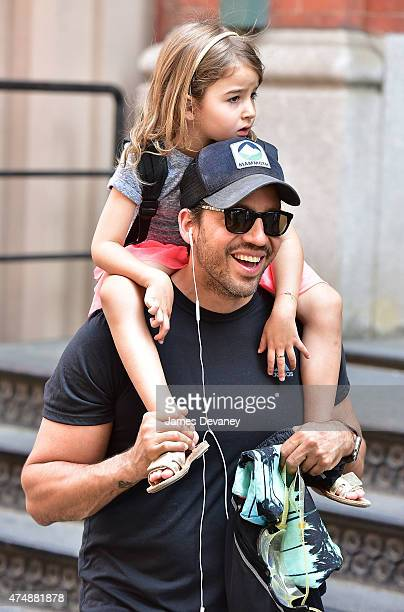 David Blaine and Dessa Blaine seen on the streets of Manhattan on May 27 2015 in New York City