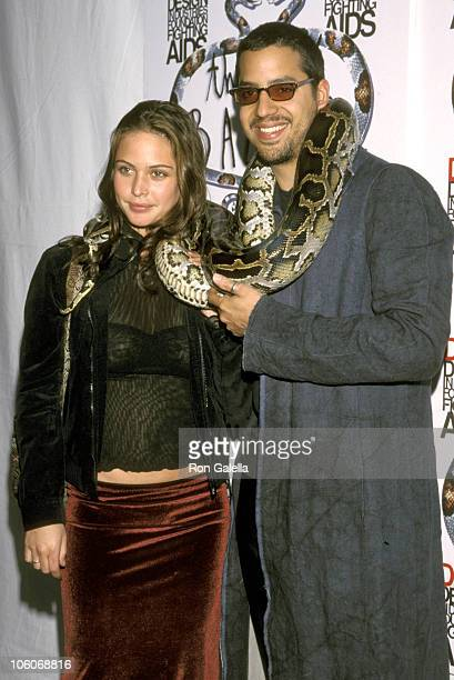 David Blaine and Girlfriend during The Great Bazaar Benefit for DIFFA at Damrosch Park in New York City New York United States