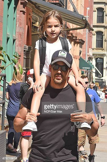 David Blaine and his daughter Dessa Blaine are seen on May 29 2015 in New York City