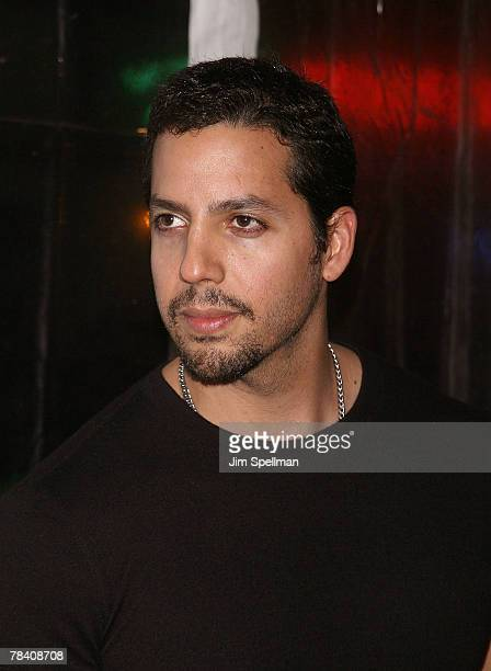 David Blaine arrives at the I Am Legend New York Premiere at Theater at Madison Square Garden on December 11 2007 in New York City
