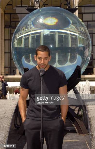 David Blaine during David Blaine Begins Seven Day Endurance Challenge Underwater May 1 2006 at Lincoln Center in New York City New York United States