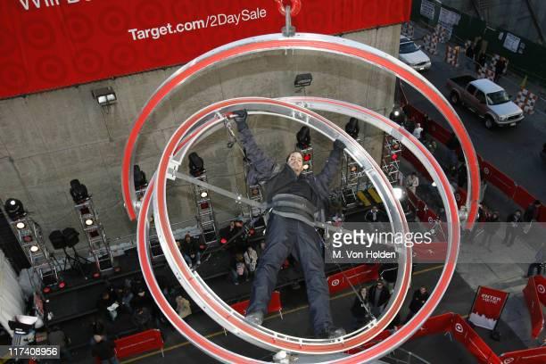 David Blaine during David Blaine Begins Target Thanksgiving Challenge High Above New York City's Times Square Day 1 at Times Square in New York City...