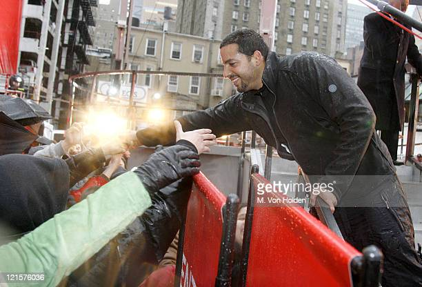 David Blaine during David Blaine Finishes the Target Thanksgiving Challenge High Above New York City's Times Square Day 3 at 46th Street and 8th Ave...