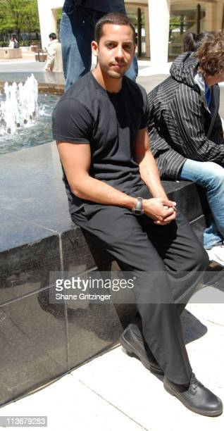 David Blaine during David Blaine Press Conference April 26 2006 at Josie Robertson Plaza at Lincoln Center in New York City New York United States