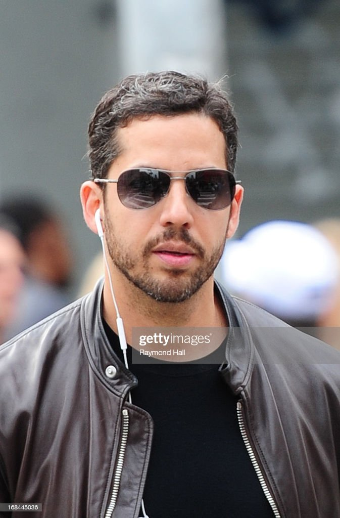 David Blaine is seen in Soho on May 9, 2013 in New York City.