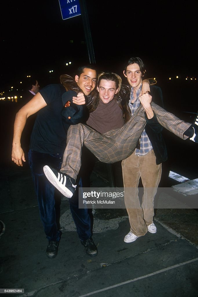 David Blaine, Leonardo DiCaprio and Lukas Haas : News Photo