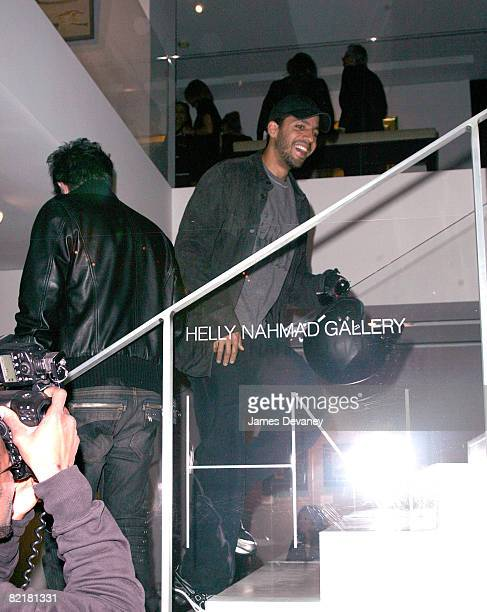 David Blaine visits the Helly Nahmad Gallery in New York City on May 5 2008