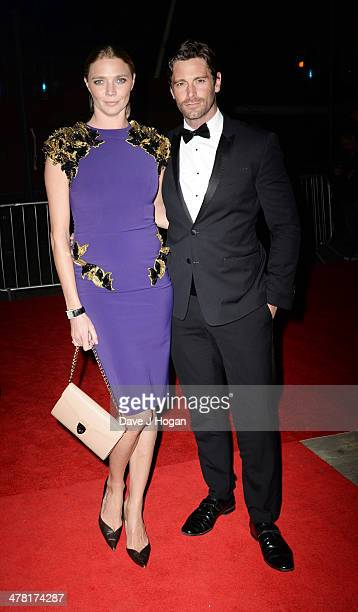 David Blakeley and Jodie Kidd attend the 2014 British Academy Games Awards at Tobacco Docks on March 12 2014 in London England