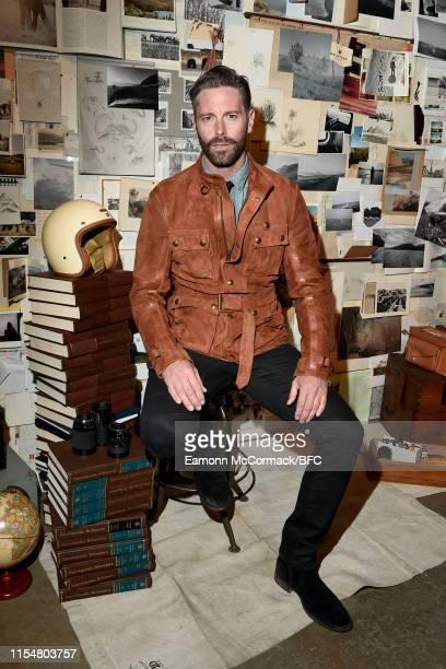 David Blakeley attends the Belstaff presentation during London Fashion Week Men's June 2019 at Hoxton Docks on June 09 2019 in London England