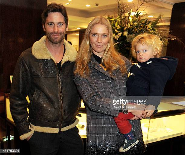 David Blakeley Jodie Kidd and her son Indio attend as Joely Richardson officially opens the Tiffany Co Christmas Shop on Bond Street London on...