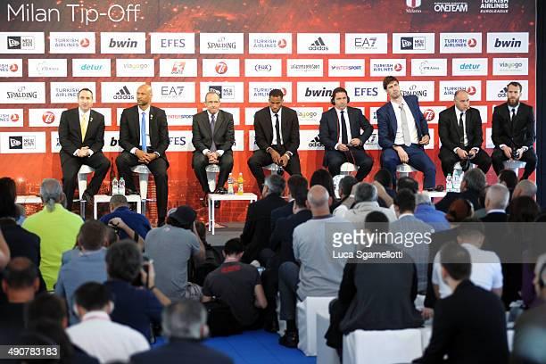 David Blatt Head Coach of Maccabi Electra Tel Aviv Devin Smith #6 of Maccabi Electra Tel Aviv Ettore Messina Head Coach of CSKA Moscow Sonny Weems...