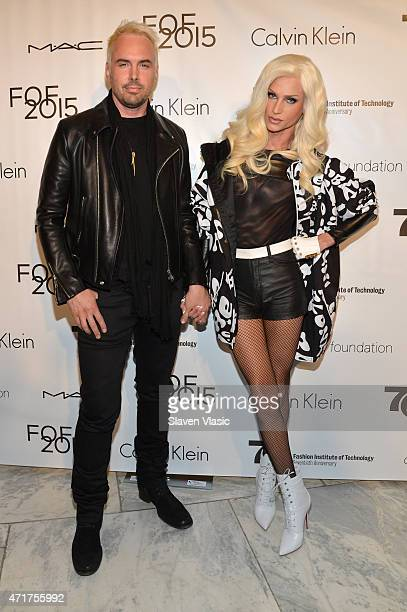David Blond and Phillip Blond attend The Fashion Institute Of Technology's Future Of Fashion Runway Show hosted by Nicole Richie at The Fashion...