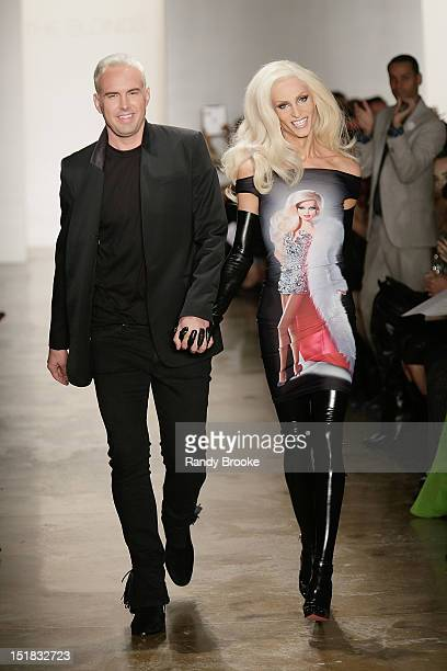David Blond and Phillipe Blond atennd the runway during the The Blonds show during Spring 2013 Mercedes-Benz Fashion Week at Milk Studios on...