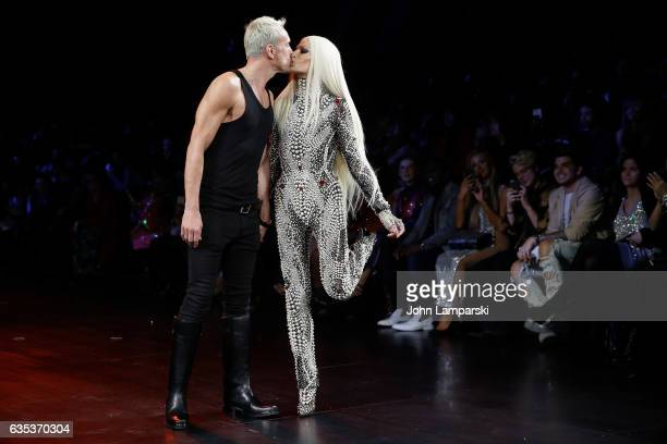 David Blond and Phillipe Blond attend The Blonds fashion show during February 2017 New York Fashion Week presented by MADE at Gallery 1 Skylight...