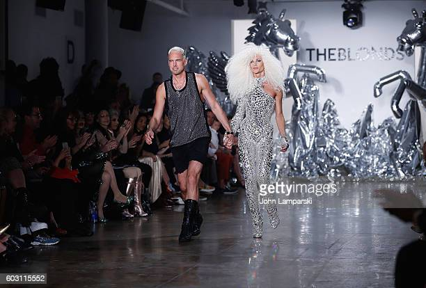 David Blond and Phillipe Blond attend The Blonds on September 2016 MADE Fashion Week at Milk Studios on September 11 2016 in New York City