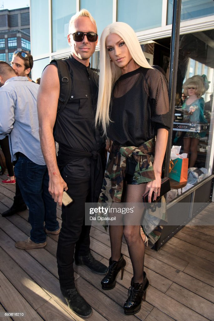 David Blond (L) and Phillipe Blond attend the Daily Front Row Summer Premiere Party at Jimmy At The James Hotel on June 7, 2017 in New York City.