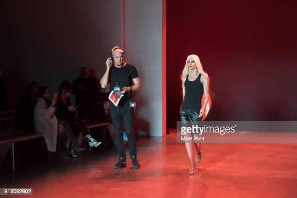 David Blond and Phillipe Blond seen on the runway during rehersal at The Blonds fashion show during New York Fashion Week The Shows at Spring Studios...