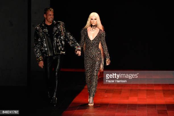 David Blond and Phillippe Blond walk the runway for The Blonds fashion show during New York Fashion Week The Shows at Gallery 1 Skylight Clarkson Sq...