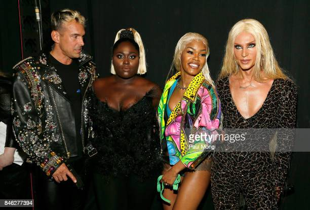 David Blond Danielle Brooks Teyana Taylor and Phillipe Blond pose backstage at The Blonds fashion show during New York Fashion Week The Shows at...