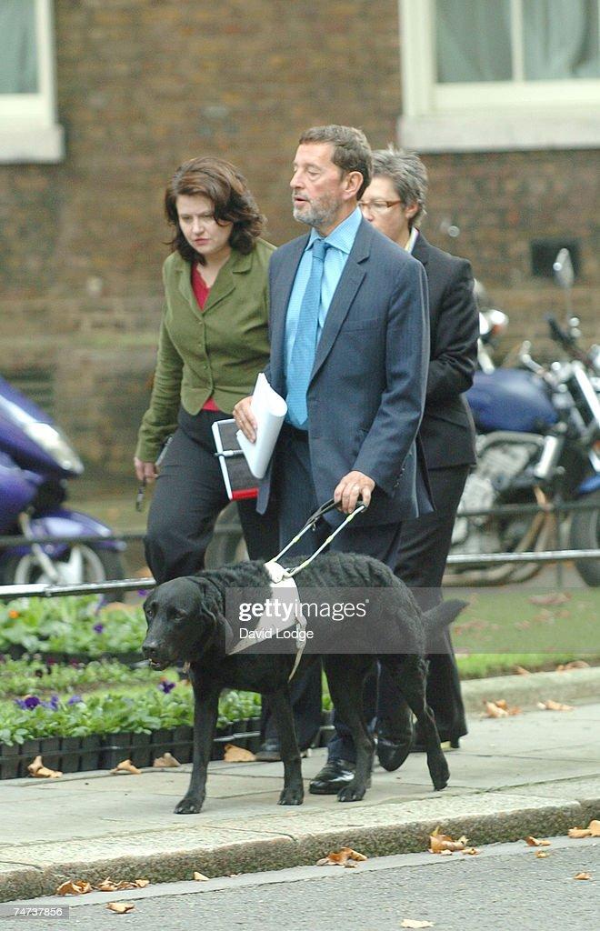 David Blunkett at the David Blunkett Arrives at Downing Street in London - October 10, 2005 at Downing Street in London.