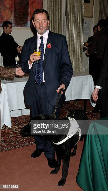 David Blunkett attends the RNIB Talking Book Service 70th anniversary party at The Arts Club Dover Street on November 8 2005 in London England