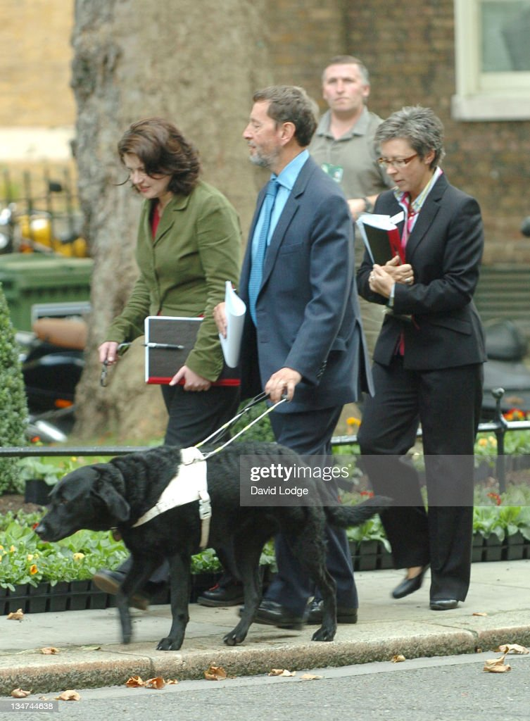David Blunkett during David Blunkett Arrives at Downing Street in London - October 10, 2005 at Downing Street in London, Great Britain.