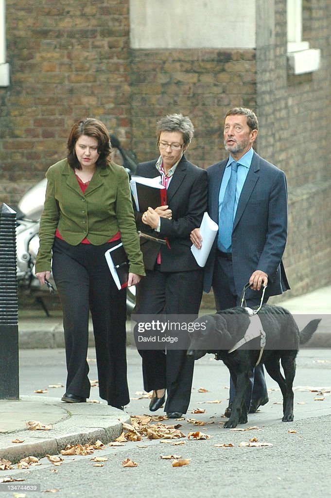 David Blunkett Arrives at Downing Street in London - October 10, 2005