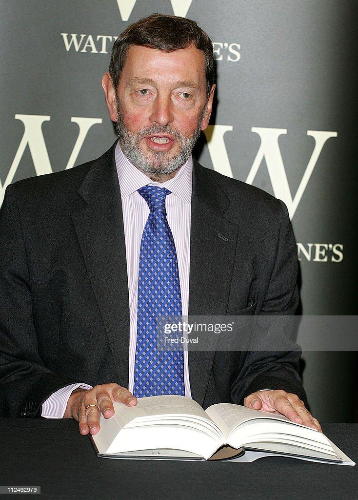 David Blunkett during David Blunkett Signs Copies of 'The Blunkett Tapes' at Waterstone's Trafalgar Square in London, Great Britain.