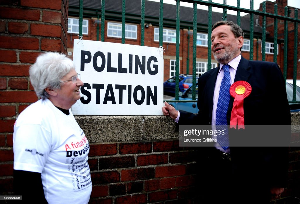 David Blunkett former Labour Cabinet Minister rallies support in the Park Hill Area on May 6, 2010 in Sheffield, United Kingdom. The UK began voting today in the closest general election for decades with opinion polls suggesting that the United Kingdom is heading for the first hung parliament since 1974.