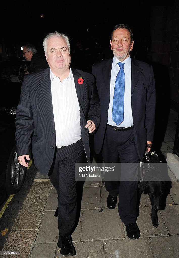 David Blunkett leaving the Cipriani's restaurant on October 28, 2009 in London, England.