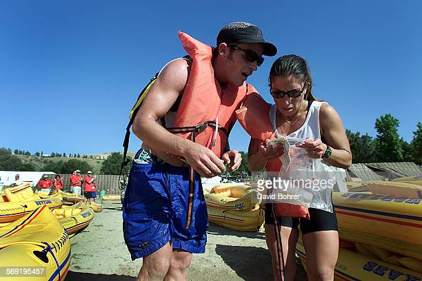 David Bohrer x23486 –– Josh and Veronica Williams of Huntington Harbour as they compete in the Hi Tec Adventure Race at Castaic Lake on Sunday 5/22...