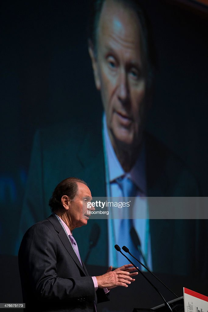 David Bonderman, founding partner of TPG Capital, speaks at the Asian Leadership Conference in Seoul, South Korea, on Tuesday, March 4, 2014. The conference runs from March 3-4. Photographer: SeongJoon Cho/Bloomberg via Getty Images