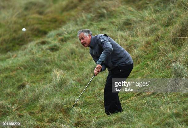David Bonsall of St John's College Cambridge plays his third shot on the fourth hole in his first round match against David Normoyle of Gonville and...