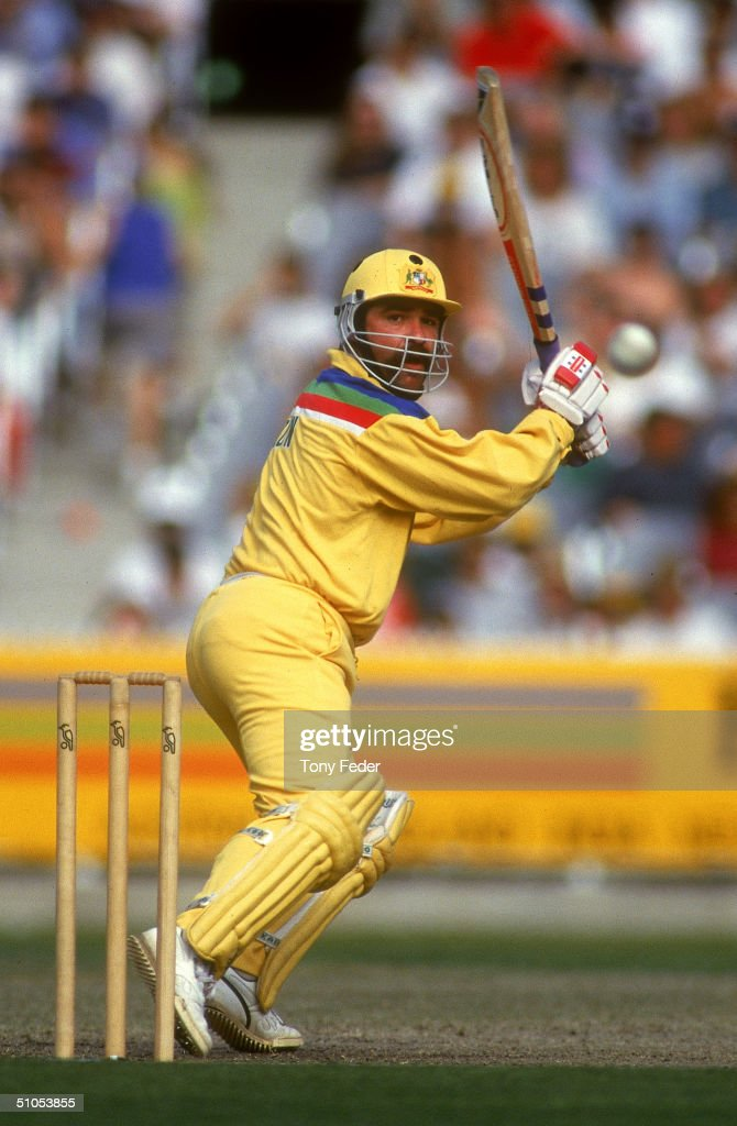 David Boon of Australia in action during the Cricket World Cup between Australia and the West Indies held at the Melbourne Cricket Ground, 1992 in Melbourne, Australia.