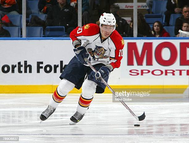 David Booth of the Florida Panthers skates against the New York Islanders on January 3, 2008 at Nassau Coliseum in Uniondale, New York