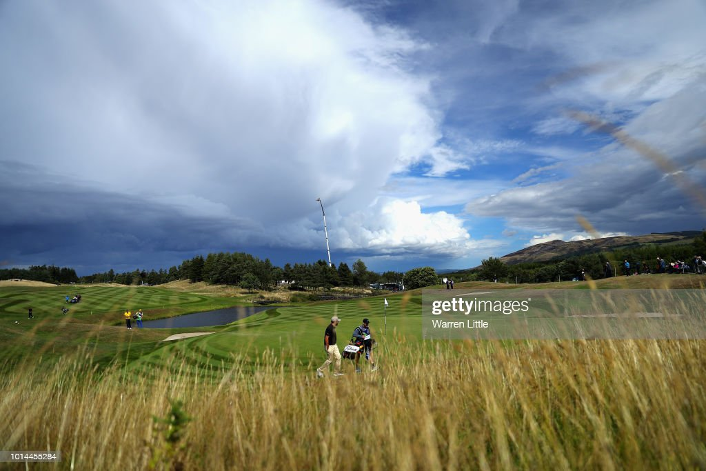 David Borda of Spain walks onto the green on hole sixteen during day three of the European Golf Team Championships at Gleneagles on August 10, 2018 in Auchterarder, Scotland. This event forms part of the first multi-sport European Championships.