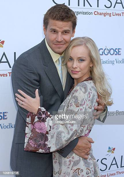 David Boreanaz and Jaime Bergman during Chrysalis's 5th Annual Butterfly Ball Arrivals at Italian villa of Carla and Fred Sands in Bel Air California...