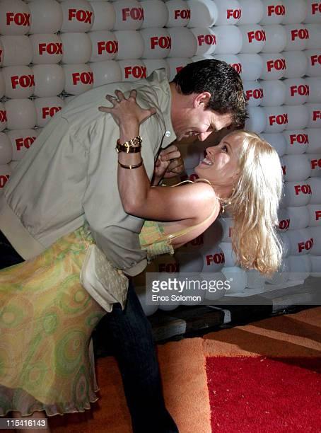 David Boreanaz and Jamie Bergman during Fox Summer All Star Party Arrivals at TCA in SANTA MONICA California United States
