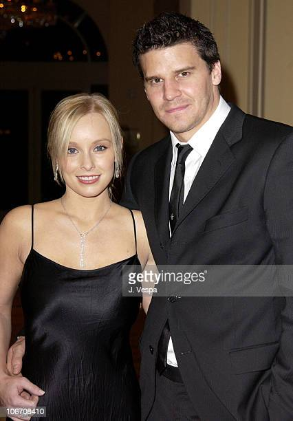 David Boreanaz and wife Jaime Bergman during Diamonds and the Power of Love Exhibit Opening at the New Ritz Carlton Lake Las Vegas Hotel at Ritz...