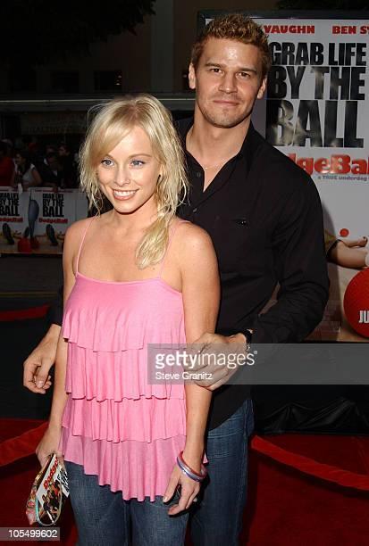 David Boreanaz and wife Jaime Bergman during DodgeBall A True Underdog Story World Premiere Arrivals at Mann Village Theatre in Westwood California...