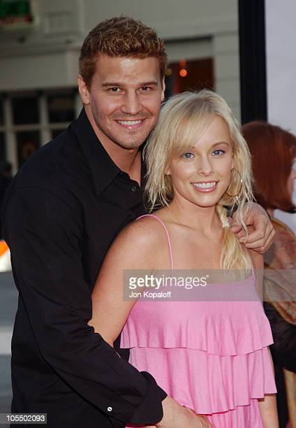 David Boreanaz and wife Jaime Bergman during DodgeBall A True Underdog Story World Premiere Arrivals at Mann Village Theatre in Westwood California...