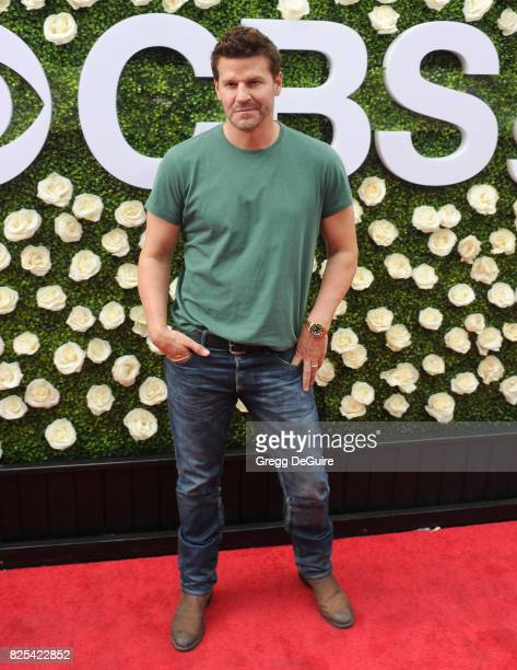 David Boreanaz arrives at the 2017 Summer TCA Tour CBS Television Studios' Summer Soiree at CBS Studios Radford on August 1 2017 in Studio City...